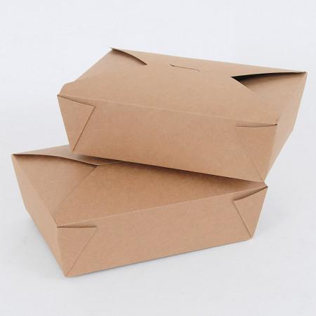 Food Box, Scatola da Asporto in Carta Kraft Capacità 1500ml