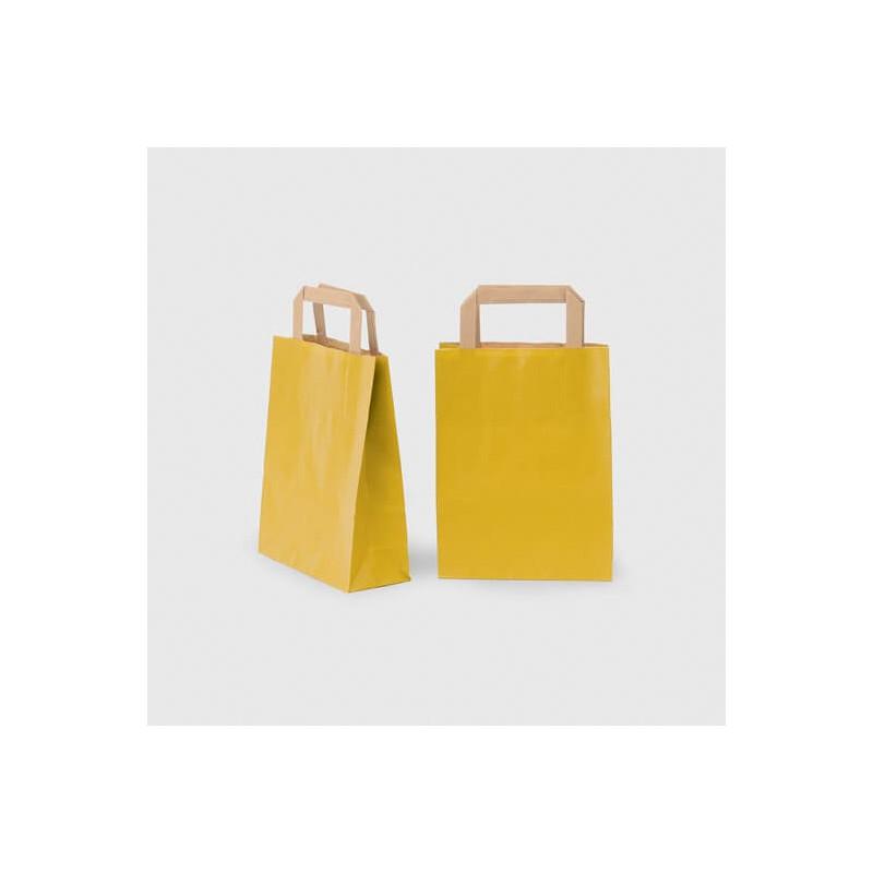 Shopper Carta Sealing Avana Colorata Maniglia Piatta