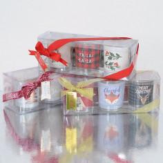 Confezione tre bicchieri candele profumate Natale