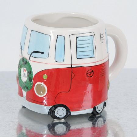 Mug I Love Xmas Van in ceramica