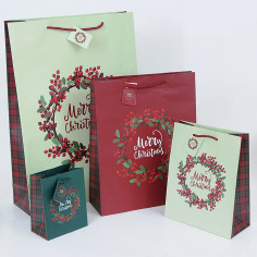 Shopper Carta Natale Elegance Berry MIX
