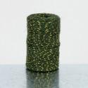 Cordini in Juta con filo dorato verde