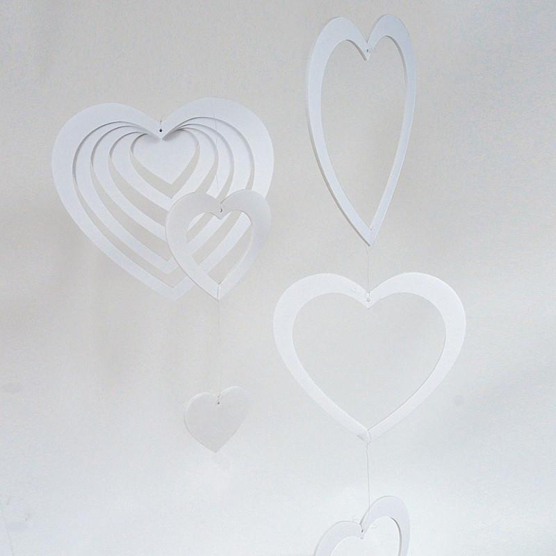 Multicuori appendibili bianchi