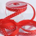 Nastri Cuori Bianchi rasetto rosso