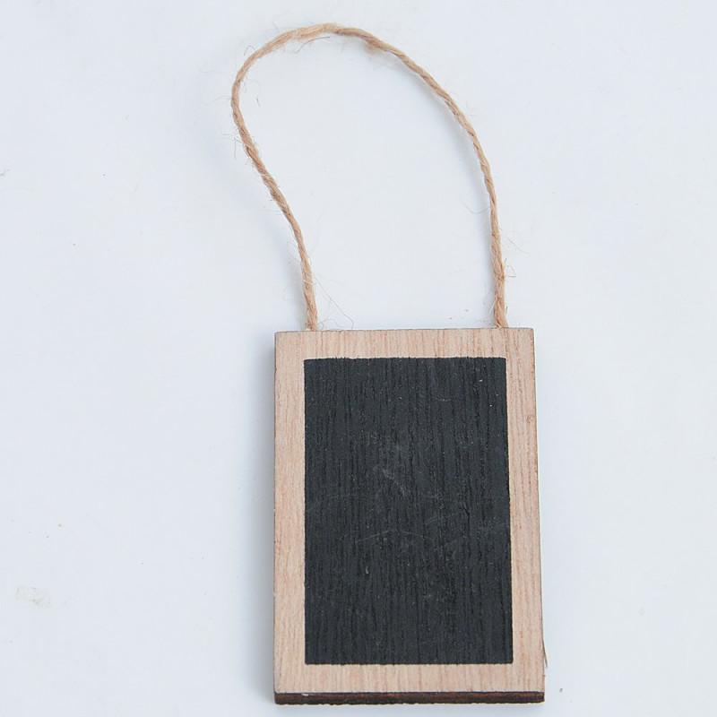 Pendaglio legno lavagna con cordino