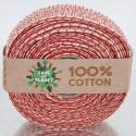 Nastri puro cotone Save the Planet rosso