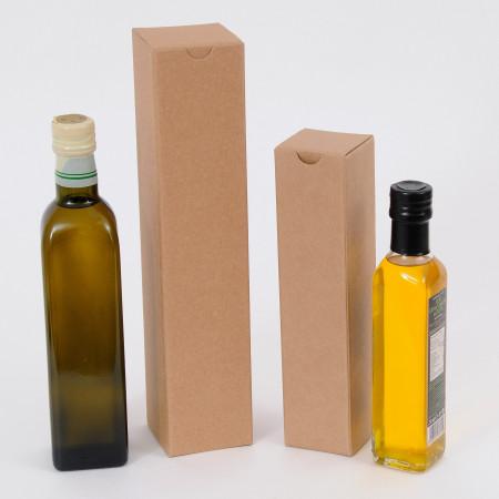 Scatole Olio da 1 bottiglia avana liscio