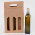 Scatole Olio Avana Liscio 3 bottiglie