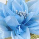 Dalie di Stoffa azzurre