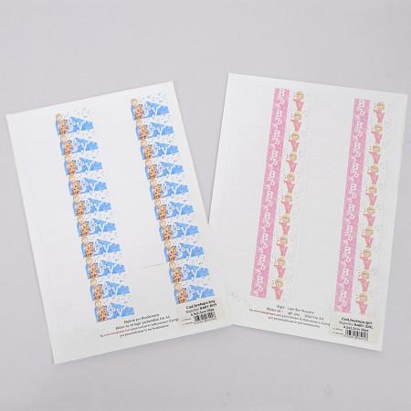 Bigliettini Fustellati in foglio A4 Boy and Girl