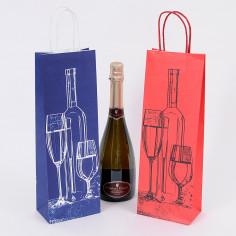Shopper Vino stampa Bottle