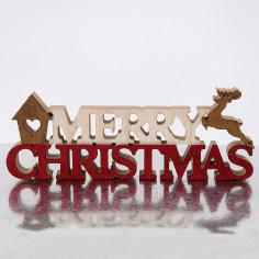 Scritta Natale in Legno