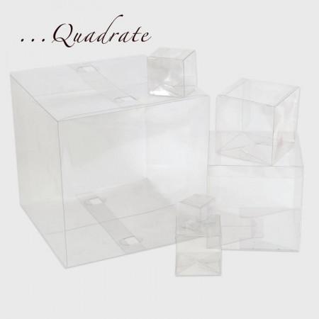 Scatole Trasparenti quadrate