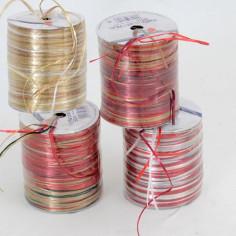 Nastri Rafia fili multicolor Metallizzati