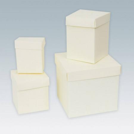 Scatole cartoncino con coperchio Seta Avorio