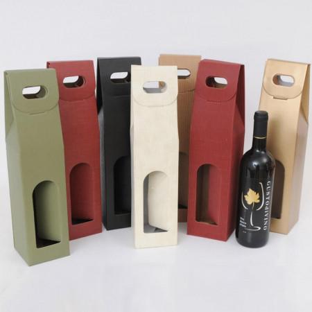 Scatole Vino 1 bottiglia Finestra Classiche