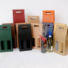 Scatole Vino 2 bottiglie Finestre Classiche
