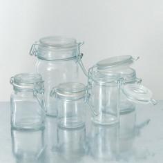 Vasetti in vetro con tappo ermetico in vetro
