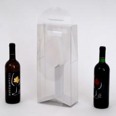 Scatole TRASPARENTI per 2 Bottiglie di Vino con Separatore