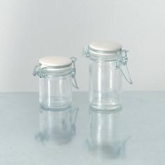 Vasetti in vetro con tappo in Ceramica