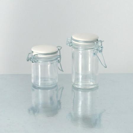 Vasetti vetro con tappo ceramica