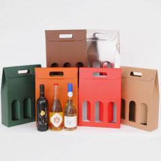 Scatole Vino 3 bottiglie Finestre Classiche
