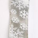 Nastro Mida Taffettà Cristalli Neve Stampati