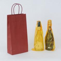 Borse per 2 bottiglie Carta Seta con separatore