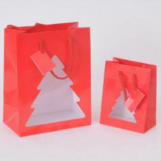 Shopper Carta Lucida con albero vetrina