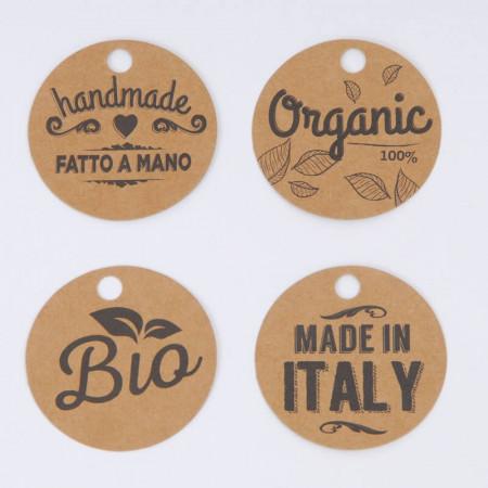 Etichette Avana Stampate con cordino: Concept Bio