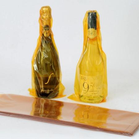 Buste Vino Cellophane Fondo Pieno Oro