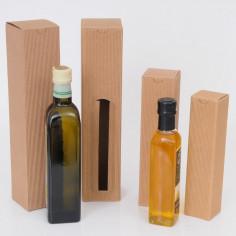 Scatole Olio da 1 bottiglia onda avana