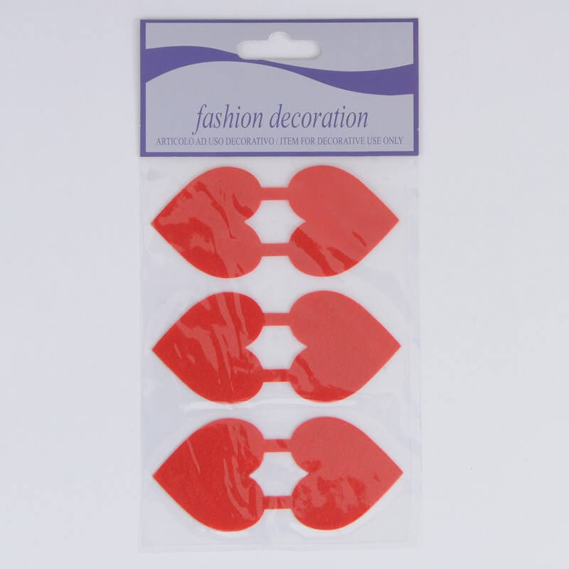 Stickers Cuori fermabusta o chiudipacco rossi