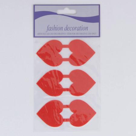 Sticker Chiudipacco o Fermabusta Cuore Rosso