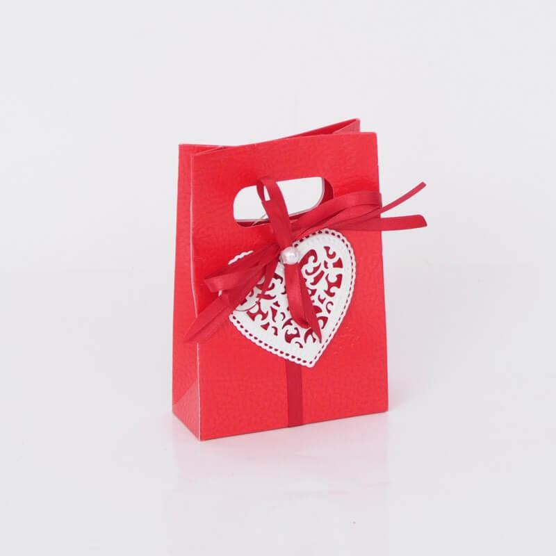 Shopper Box in cartoncino pelle rosso