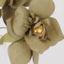 Mazzetto fiori in raso con perlina