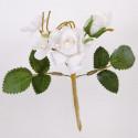 Composizione rosellina bianca
