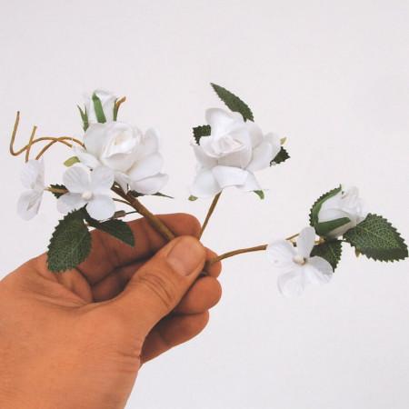 Fiori Bomboniera rosellina bianca