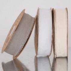 Nastri cotone pregiato bordo sfilacciato 4 cm