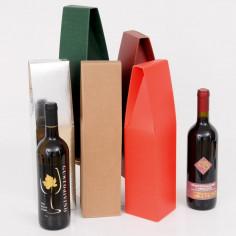 Scatole portabottiglie da una bottiglia chiuse