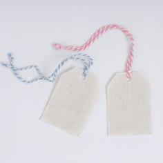 Etichetta in Tessuto Inamidato con cordino Bicolor
