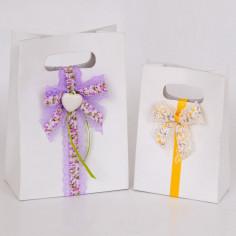 Shopper Box Lino Bianco