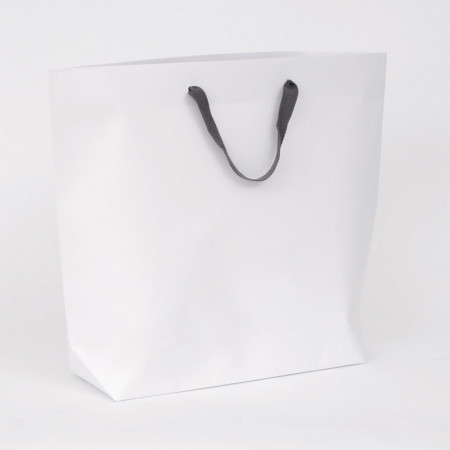 Borse in Carta a Secchiello Bucket bianca/grigia
