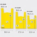 Borse Biodegradabili Bretella giallo