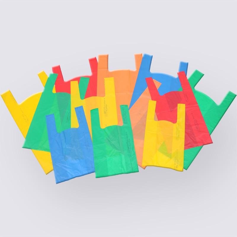 Borse biodegradabili e compostabili colorate, tinta unita