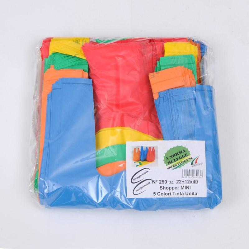 Borse Biodegradabili Bretella MIX MINI