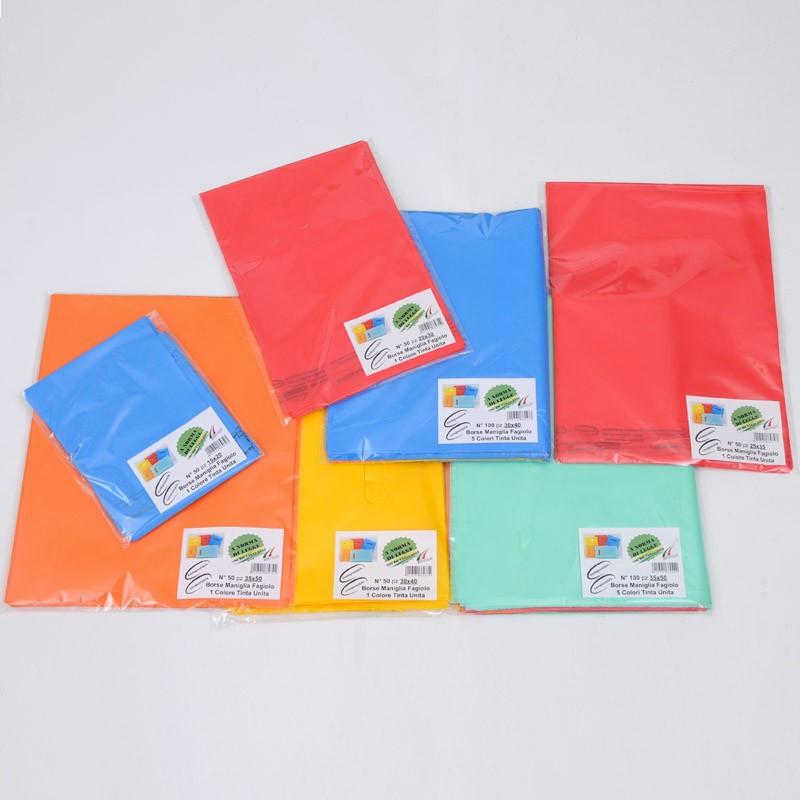 Sacchetti biodegradabili e compostabili colorati, tinta unita