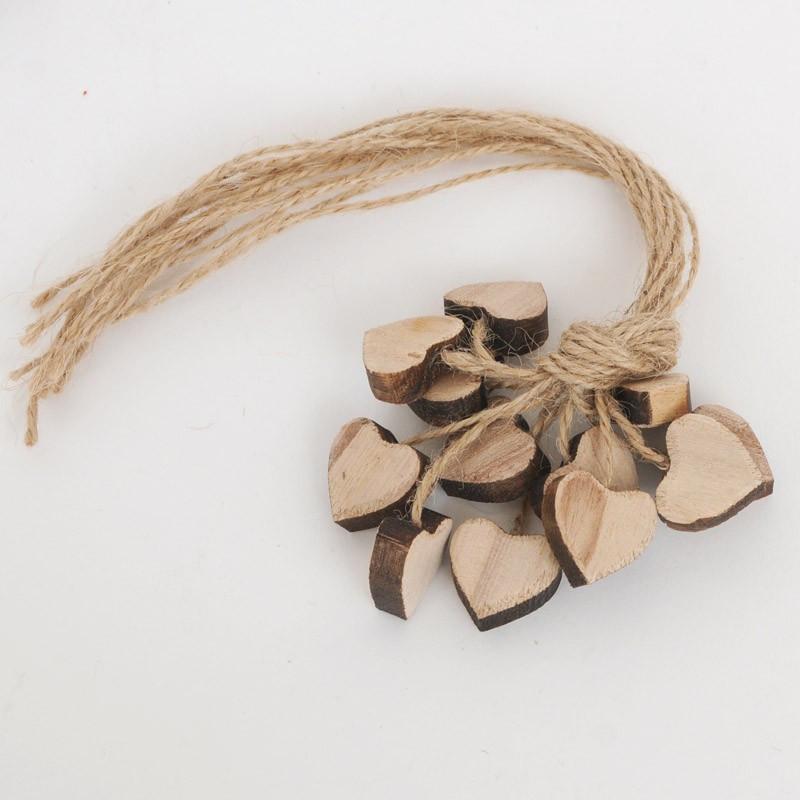 Cuori in legno naturale piccoli