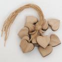 Cuori in legno naturale medi