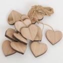 Cuori in legno naturale grandi